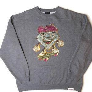 Diamond Supply Co Crewneck Sweatshirt Mens 2XL